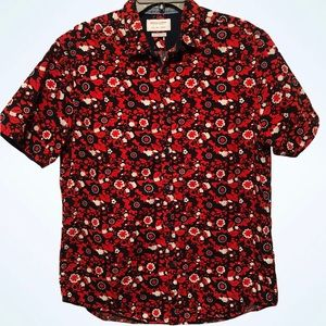 Denim & Flower Men's Button Down Cabana Shirt
